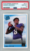 Lamar Jackson 2018 Donruss #317 RR RC (PSA 10) at PristineAuction.com