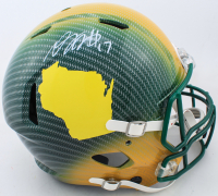 Davante Adams Signed Packers Full-Size Authentic On-Field Hydro-Dipped Speed Helmet (Beckett COA) at PristineAuction.com