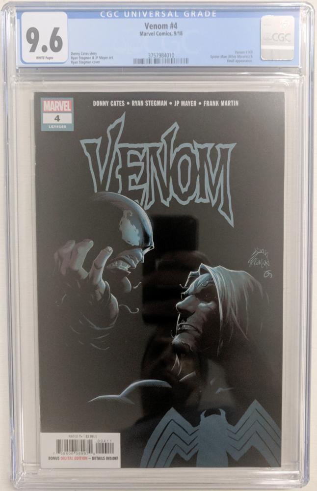 """2018 """"Venom"""" Issue #4 Marvel Comic Book (CGC 9.6) at PristineAuction.com"""