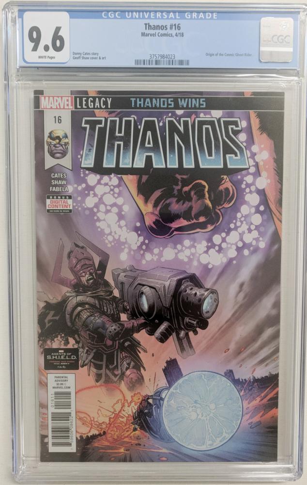 "2018 ""Thanos"" Issue #16 Marvel Comic Book (CGC 9.6) at PristineAuction.com"
