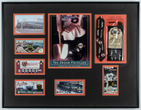 Pacific Bell Park 21x26.5 Custom Framed Photo Display with (5) Pacific Bell Park Pins at PristineAuction.com