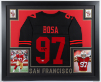 Nick Bosa Signed 35.5x43.5 Custom Framed Jersey Display (Beckett COA) at PristineAuction.com