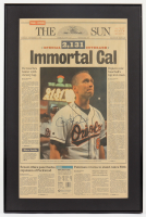 Cal Ripken Jr. Signed 1995 17x25.5 Custom Framed Newspaper (JSA ALOA) (See Description) at PristineAuction.com