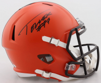 Wyatt Teller Signed Browns Full-Size Speed Helmet (Beckett COA) at PristineAuction.com
