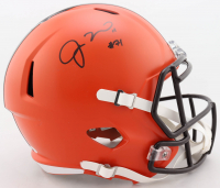 Jedrick Wills Signed Browns Full-Size Speed Helmet (Beckett COA) at PristineAuction.com