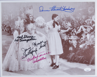 """""""The Wizard Of Oz"""" 11x14 Photo Cast-Signed by (4) with Jerry Maren, Mickey Carroll, Donna Stewart-Hardway, & Karl Slover With Multiple Inscriptions (JSA COA) at PristineAuction.com"""