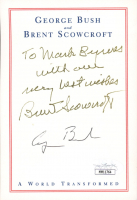 "George H.W. Bush & Brent Scowcroft Signed 4x5.5 Cut Inscribed ""With Our Very Best Wishes"" (JSA COA) at PristineAuction.com"