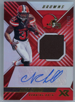 Nick Chubb 2018 Panini XR Rookie Swatch Autographs Red #13 at PristineAuction.com