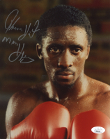 "Tommy ""Hitman"" Hearns Signed 8x10 Photo Inscribed ""Hitman"" (JSA COA) at PristineAuction.com"