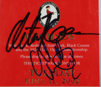 2002 102nd U.S. Open Grounds Pass Signed by (4) with Phil Mickelson, David Toms, Retief Goosen, Charles Howell III (JSA COA) at PristineAuction.com