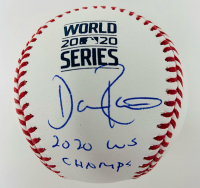 """Dave Roberts Signed 2020 World Series Baseball Inscribed """"2020 WS Champs"""" (Fanatics Hologram) at PristineAuction.com"""