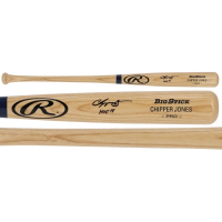"Chipper Jones Signed Rawlings Pro Baseball Bat Inscribed ""HOF 18"" (Fanatics Hologram) at PristineAuction.com"