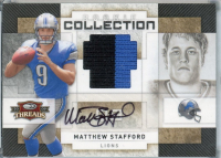 Matthew Stafford 2009 Donruss Threads Rookie Collection Materials Autographs Prime #10 at PristineAuction.com