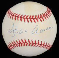 Hank Aaron Signed ONL Baseball (Beckett COA) at PristineAuction.com