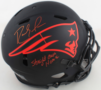 """Randy Moss Signed Patriots Full-Size Authentic On-Field Eclipse Alternate Speed Helmet Inscribed """"Straight Cash Homie"""" (Beckett COA) at PristineAuction.com"""
