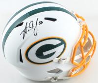 Aaron Jones Signed Packers Full-Size Matte White Speed Helmet (Beckett COA) at PristineAuction.com