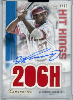 Vladimir Guerrero 2019 Topps Luminaries Hit Kings Autograph Relics Blue #HKARVGS at PristineAuction.com