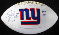 "Lawrence Taylor Signed Giants Logo Football Inscribed ""HOF '99"" (JSA COA) at PristineAuction.com"