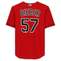 Shane Bieber Signed Indians Jersey (Fanatics Hologram) at PristineAuction.com