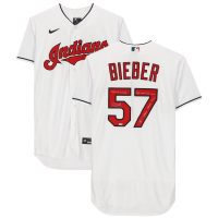 Shane Bieber Signed Indians LE Jersey with Multiple Inscriptions (Fanatics Hologram) at PristineAuction.com