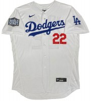 Clayton Kershaw Signed Dodgers Jersey with 2020 World Series Patch (Fanatics Hologram) at PristineAuction.com