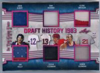 John Elway/Jim Kelly/Dan Marino/Steve Yzerman/Clyde Drexler/Roger Clemens 2019 ITG Used Sports Draft History Memorabilia Magenta Spectrum #DH14 at PristineAuction.com