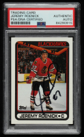Jeremy Roenick Signed 1990-91 Topps #7 RC (PSA Encapsulated) at PristineAuction.com