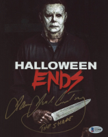 """James Jude Courtney Signed """"Halloween"""" 8x10 Photo Inscribed """"The Shape"""" (Beckett Hologram) at PristineAuction.com"""
