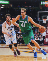 Dirk Nowitzki Signed Mavericks 11x14 Photo (JSA COA) at PristineAuction.com