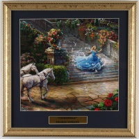 "Thomas Kinkade Walt Disney's ""Cinderella"" 16x16 Custom Framed Print Display at PristineAuction.com"