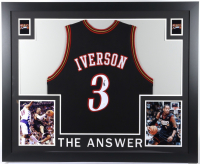 Allen Iverson Signed Custom Framed Jersey (JSA COA) at PristineAuction.com