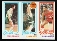 Fred Brown / Larry Bird TL / Ron Brewer 1980-81 Topps #165 at PristineAuction.com