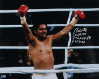"Roberto Duran Signed 16x20 Photo Inscribed ""Manos De Piedra"" (Beckett Hologram) (See Description) at PristineAuction.com"