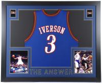 Allen Iverson Signed Custom Framed Jersey (JSA COA) at PristineAuction.com