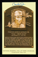 Cal Ripken Jr. Signed Hall of Fame Plaque Postcard (MLB Hologram & Schulte Sports Hologram) at PristineAuction.com