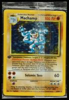 Machamp 1999 Pokemon Base 1st Edition #8 HOLO at PristineAuction.com