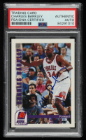 Charles Barkley Signed 1992-93 Hoops #451 (PSA Encapsulated) at PristineAuction.com