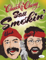 "Cheech Marin & Tommy Chong Signed ""Still Smokin'"" 8x10 Photo (JSA COA) at PristineAuction.com"