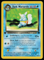Dark Wartortle 1999 Pokemon 1st Edition Team Rocket #46 at PristineAuction.com