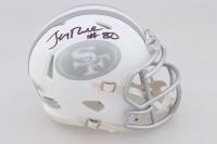 Jerry Rice Signed 49ers White ICE Speed Mini Helmet (Beckett COA) (See Description) at PristineAuction.com