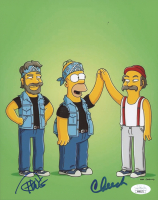 "Cheech Marin & Tommy Chong Signed ""The Simpsons"" 8x10 Photo (JSA COA) at PristineAuction.com"