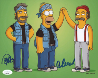 """Cheech Marin & Tommy Chong Signed """"The Simpsons"""" 8x10 Photo (JSA COA) (See Description) at PristineAuction.com"""