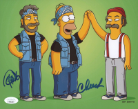 "Cheech Marin & Tommy Chong Signed ""The Simpsons"" 8x10 Photo (JSA COA) (See Description) at PristineAuction.com"