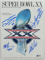 1986 Super Bowl XX Game Program Signed by (4) with Mike Ditka, Mike Singletary, Richard Dent, Dan Hampton with Multiple Inscriptions (Beckett LOA) at PristineAuction.com