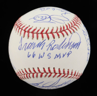 1966 Orioles OML Baseball Signed by (15) with Frank Robinson, Brooks Robinson, Wally Bunker, Eddie Fisher, Moe Drabowski (Beckett COA) at PristineAuction.com