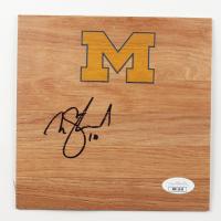 Nik Stauskas Signed Michigan Wolverines 6x6 Floor Piece (JSA COA) at PristineAuction.com