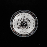 2020 Samoa Serpent of Milan 1 Oz. .999 Fine Silver 2 Tala Coin at PristineAuction.com