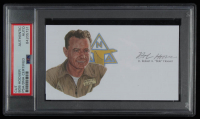 Robert A. Hoover Signed 3x5 Cut (PSA Encapsulated) at PristineAuction.com