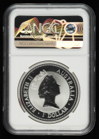 1996 Kookaburra 1 oz Australia Silver $1 Ten-Dollar Coin (NGC MS 69) at PristineAuction.com