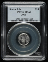 2000 Statute Liberty/Eagle 1/10oz United States Platinum $10 Ten-Dollar Coin (PCGS MS 69) at PristineAuction.com